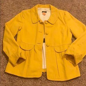 Yellow J.Crew Peplum Jacket